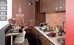 Socrealizm w nowoczesnej kuchni. Mała kuchnia o nostalgicznym klimacie.