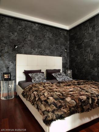 Łóżko w salonie