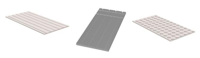 Panele wykonane z płyt gipsowo-włóknowych i cementowych