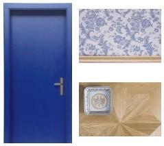 Wnętrze w kolorze niebieskim