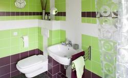 Układanka ceramiczna w kolorze zielonym i fioletowym